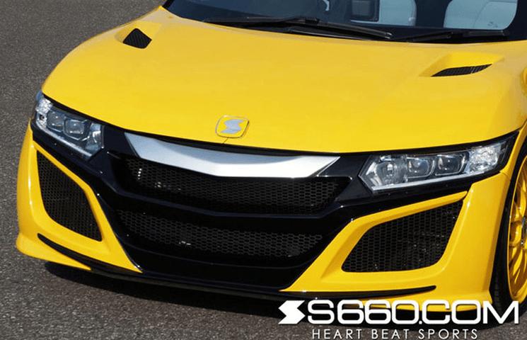 S660  外装 エアロパーツ フロントバンパー S660.com S660 SPIDER フロントバンパー