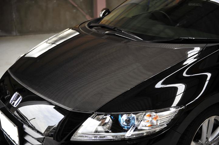 CR-Z 外装 エアロパーツ ボンネット NOBLESSE カーボンボンネット(ウェットカーボン)
