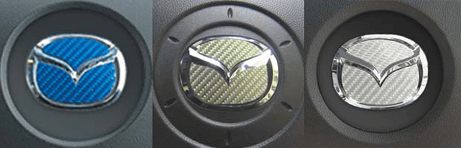 CX-3 外装 エンブレム・デカール・バイナル エンブレム・デカール・バイナル本体 ハセプロ MIRABEAUステアリングエンブレム(カーボン)