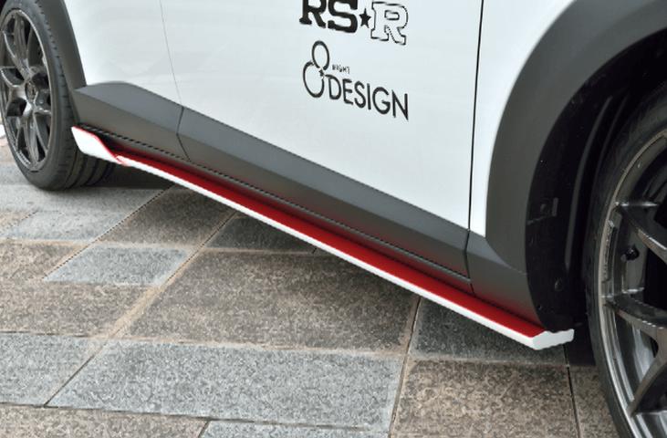 CX-3 外装 エアロパーツ サイドステップ エイトデザイン サイドスポイラー