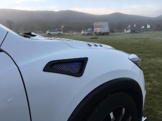 CX-5 外装 エアロパーツ インテーク・ダクト・導風板 DUCKS GARDEN フロントフェンダーサイドダクト