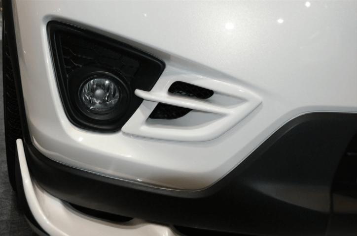 CX-5 外装 エアロパーツ インテーク・ダクト・導風板 DUCKS GARDEN フォグランプインサイドダクト