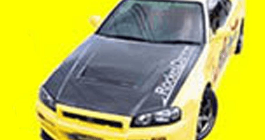 R34 スカイライン GT-R 外装 エアロパーツ ボンネット フジムラオート ドライカーボンボンネット