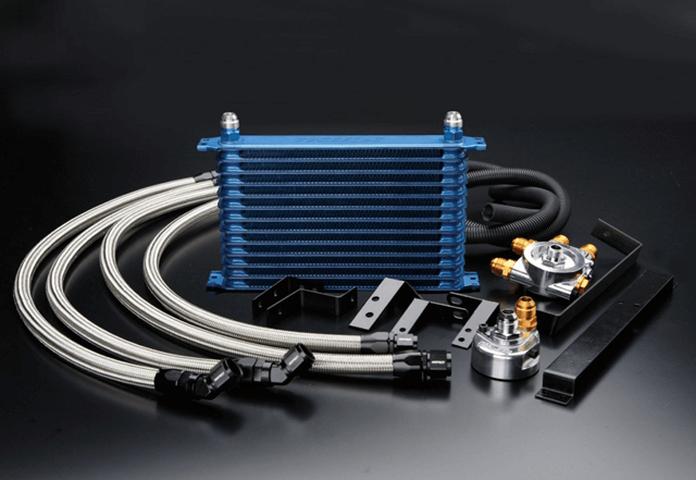 R32 スカイライン GT-R 冷却系 オイルクーラー オイルクーラー本体 トラスト オイルクーラー×2