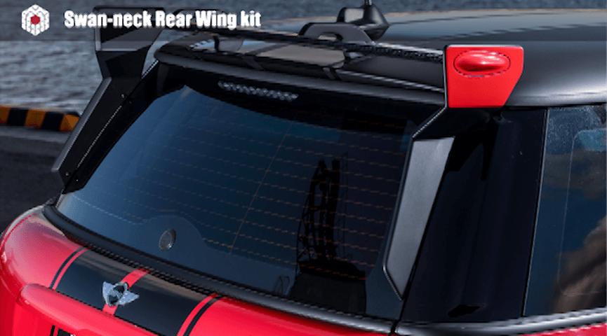 Mini R55/56/57 外装 エアロパーツ リアスポイラー/ウイング GIOMIC スワンネック・リア・ウイング・キット