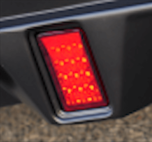 50 プリウス 外装 ライト フォグランプ WALD リアスカート インサート LEDランプ