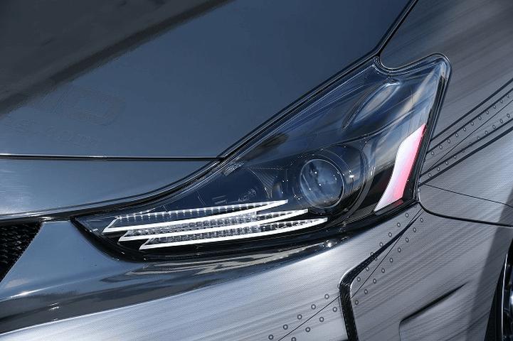 プリウスアルファ α 外装 ライト ヘッドライト Kuhl Racing(クールレーシング) ワンオフ加工インナーブラックゴールドアクリルプレートヘッドライト