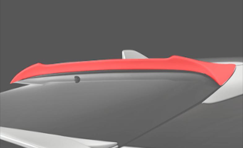 50 プリウス 外装 エアロパーツ リアスポイラー/ウイング シルクブレイズ リアルーフスポイラー