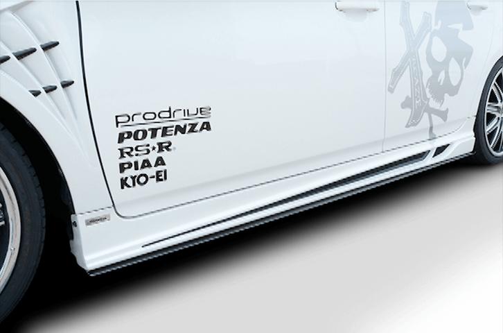 30 プリウス 外装 エアロパーツ サイドステップ ROWEN(ローウェン) サイドアンダーフラップ