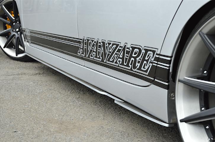 30 プリウス 外装 エアロパーツ サイドステップ AVANZARE サイドステップスポイラー ※ガレージアンサー製