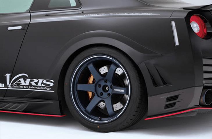 R35 GT-R 外装 エアロパーツ フェンダー VARIS(バリス) リアオーバーフェンダー