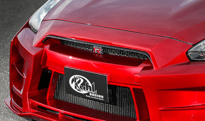 R35 GT-R 外装 エアロパーツ フロントグリル Kuhl Racing(クールレーシング) グリルトップモール