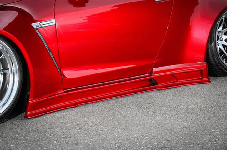R35 GT-R 外装 エアロパーツ サイドステップ Kuhl Racing(クールレーシング) ワイドボディエアロ サイドステップ