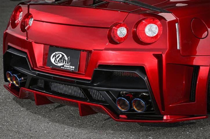 R35 GT-R 外装 エアロパーツ リアディフューザー Kuhl Racing(クールレーシング) ワイドボディエアロ リヤフローティングディフューザー