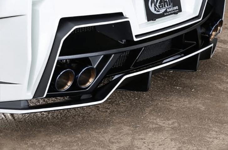 R35 GT-R 外装 エアロパーツ リアディフューザー Kuhl Racing(クールレーシング) GTリヤフローティングディフューザー