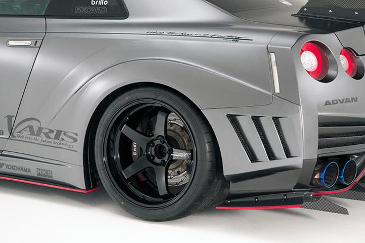 R35 GT-R 外装 エアロパーツ フェンダー VARIS(バリス) リアワイドフェンダー