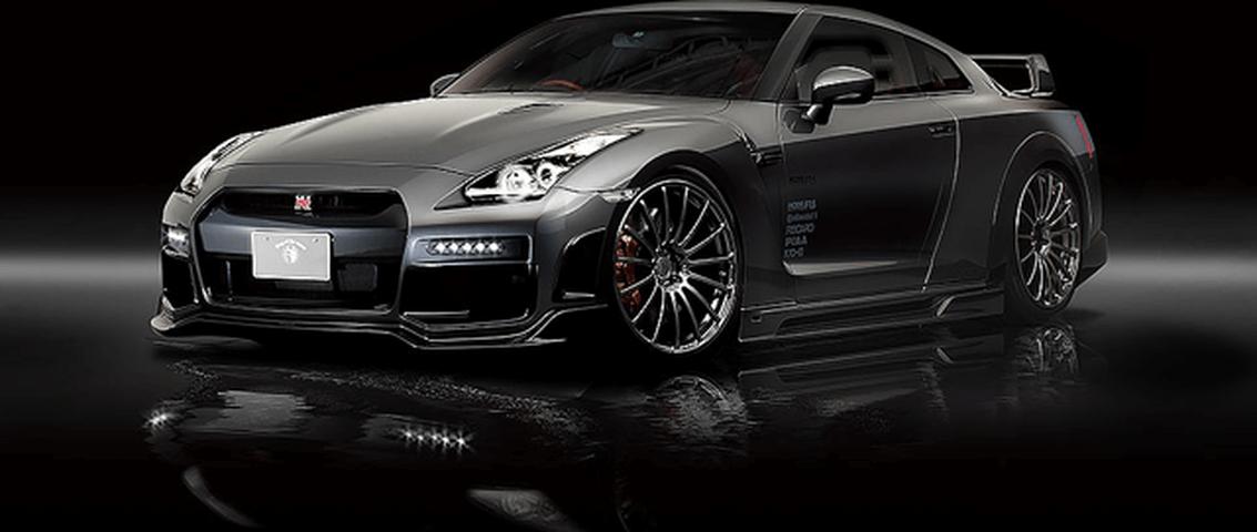 R35 GT-R 外装 エアロパーツ サイドステップ ROWEN(ロェン) サイドステップ(カーボン+FRP)