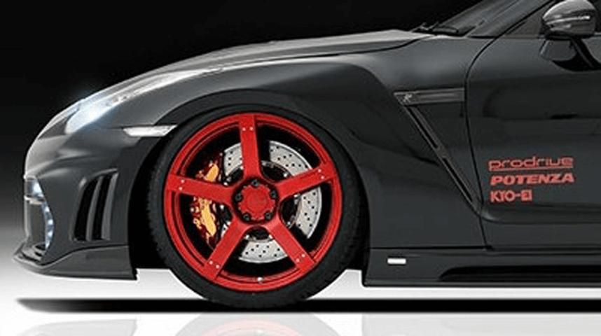 R35 GT-R 外装 エアロパーツ フェンダー ROWEN(ロェン) フロントフェンダーフィニッシャーL/R(カーボン)