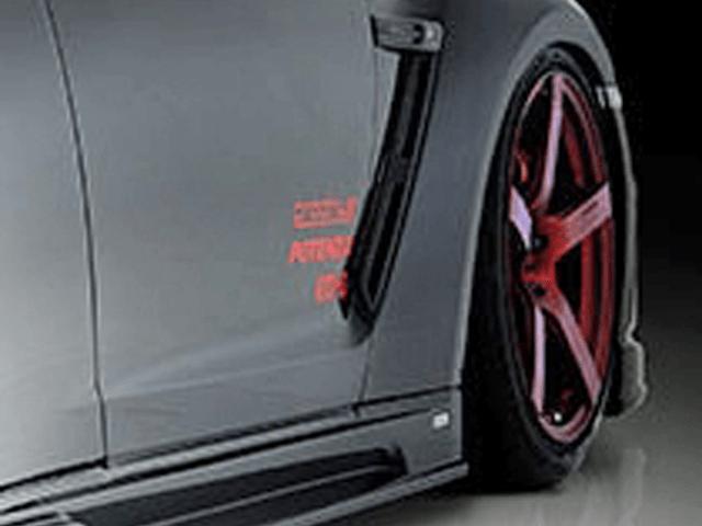 R35 GT-R 外装 エアロパーツ インテーク・ダクト・導風板 ROWEN(ロェン) フロントフェンダーダクトL/R(カーボン)