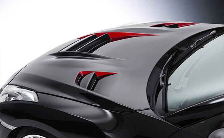 R35 GT-R 外装 エアロパーツ ボンネット ROWEN(ロェン) RRレーシングボンネット(FRP)