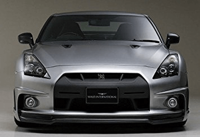 R35 GT-R 外装 エアロパーツ フロントバンパー WALD フロントバンパースポイラー(FRP+カーボン)