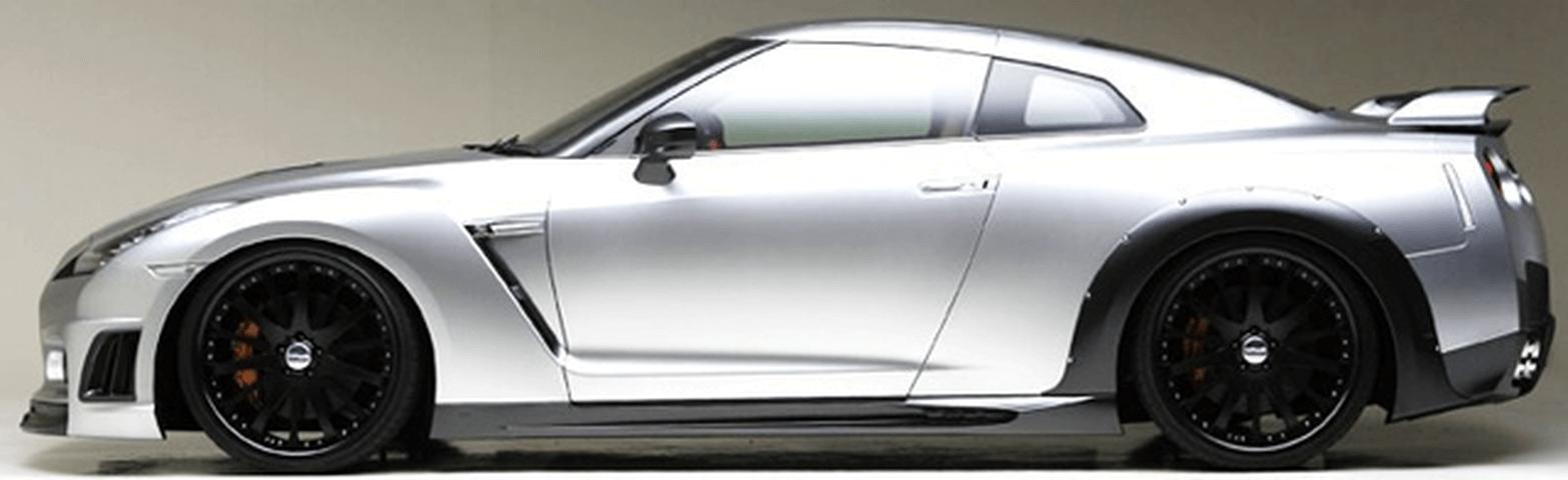R35 GT-R 外装 エアロパーツ サイドステップ WALD サイドステップ(FRP)