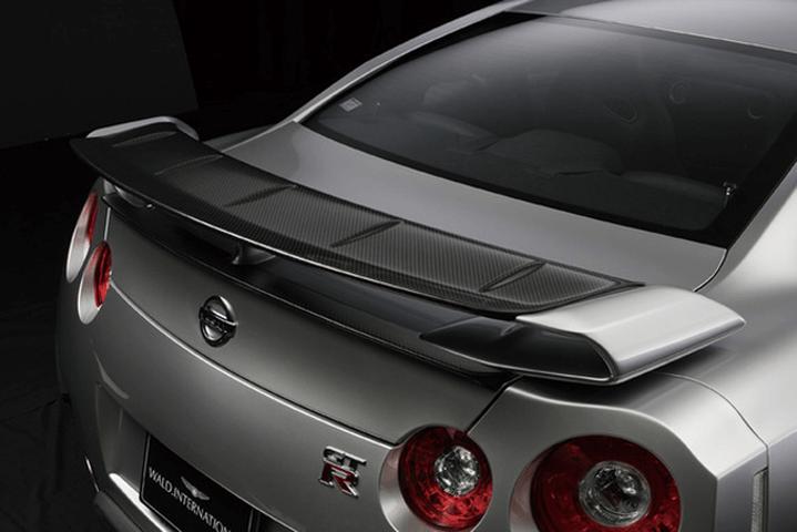 R35 GT-R 外装 エアロパーツ リアスポイラー/ウイング WALD TRUNK SPOILER(カーボン)