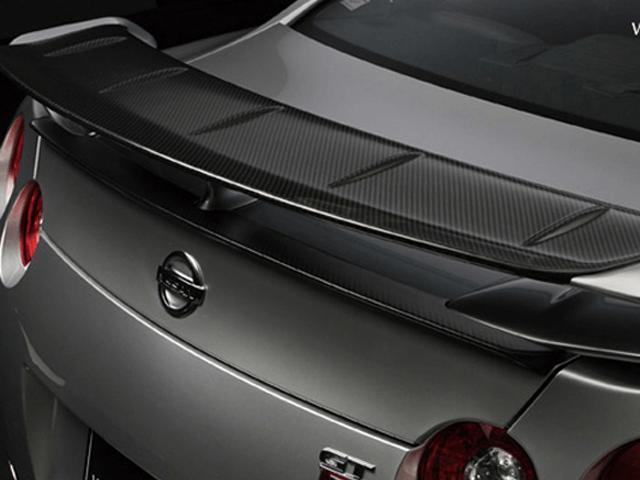 R35 GT-R 外装 エアロパーツ リアスポイラー/ウイング WALD REAR WING FLAP(カーボン)