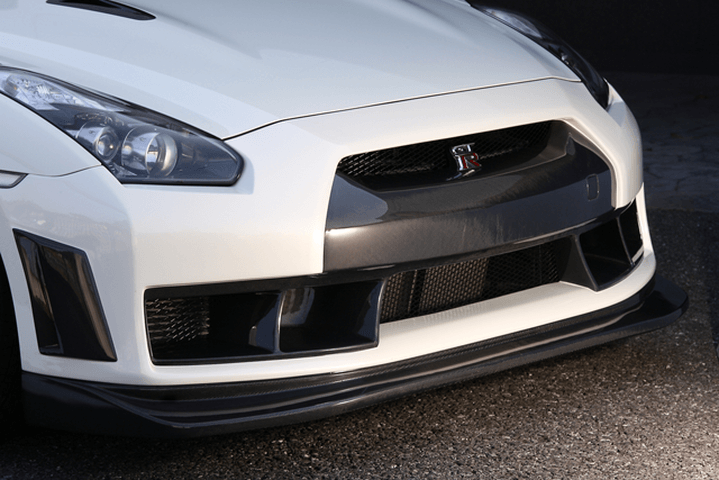 R35 GT-R 外装 エアロパーツ フロントバンパー VeilSide フロントバンパースポイラー(カーボン+FRP)