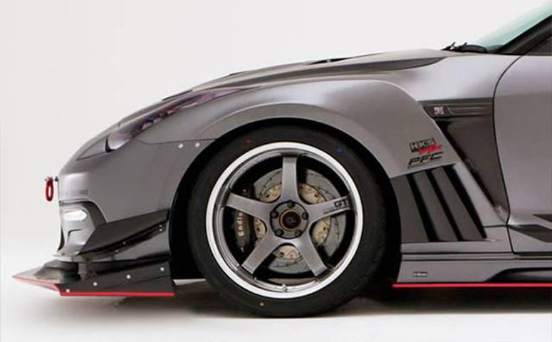 R35 GT-R 外装 エアロパーツ フェンダー VARIS(バリス) フロントフェンダー+カーボンルーバーフィン