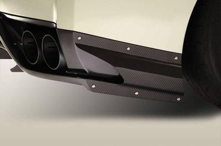 R35 GT-R 外装 エアロパーツ リアディフューザー VARIS(バリス) リアアンダースカート用サイドエアシュラウド(カーボン)