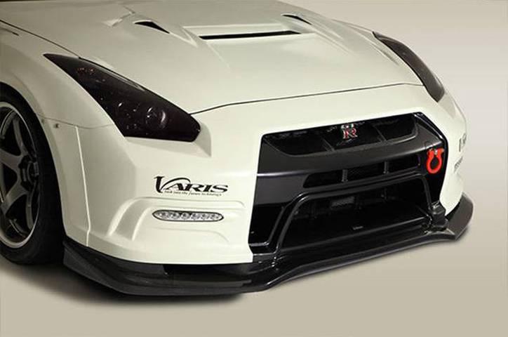 R35 GT-R 外装 エアロパーツ フロントバンパー VARIS(バリス) フロントバンパーユニットデイライト