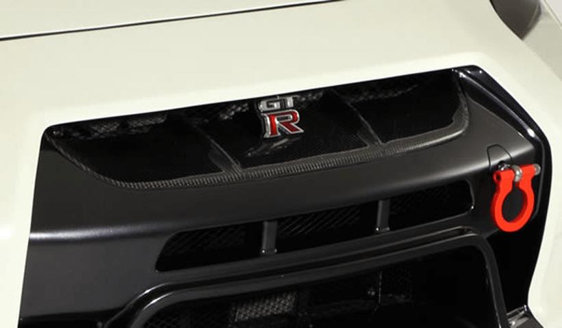 R35 GT-R 外装 エアロパーツ フロントグリル VARIS(バリス) フロントバンパー用グリルカバー(カーボン)