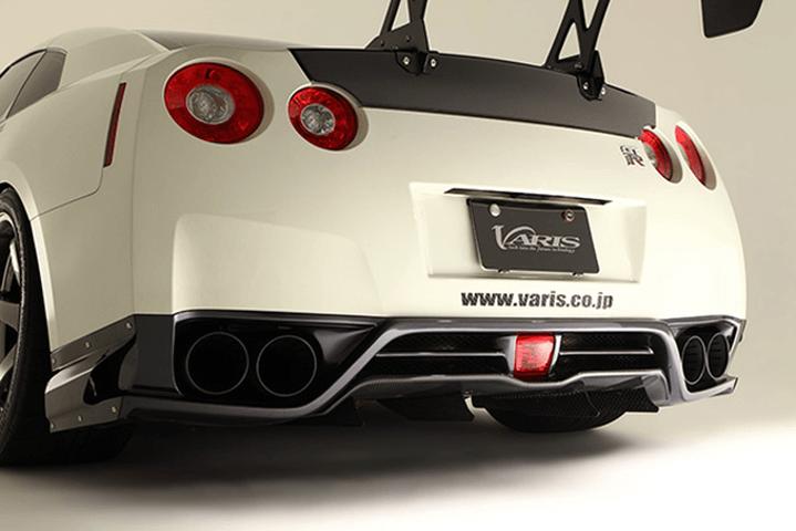 R35 GT-R 外装 エアロパーツ リアディフューザー VARIS(バリス) リアアンダースカート用バーチカルフィン4pcs(カーボン)