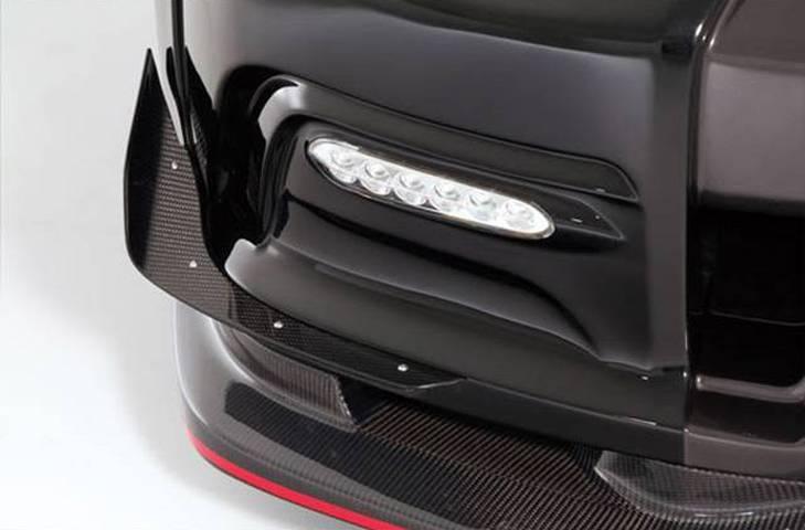 R35 GT-R 外装 エアロパーツ カナード VARIS(バリス) フロントバンパー用シングルカナード(カーボン)