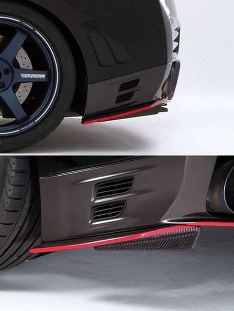 R35 GT-R 外装 エアロパーツ リアディフューザー VARIS(バリス) 純正リアアンダースカート用スポイラーフィン(カーボン)