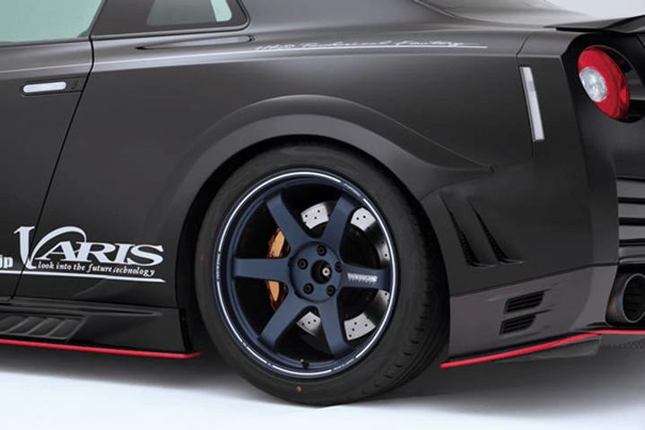 R35 GT-R 外装 エアロパーツ フェンダー VARIS(バリス) リアフェンダー(FRP L/R)