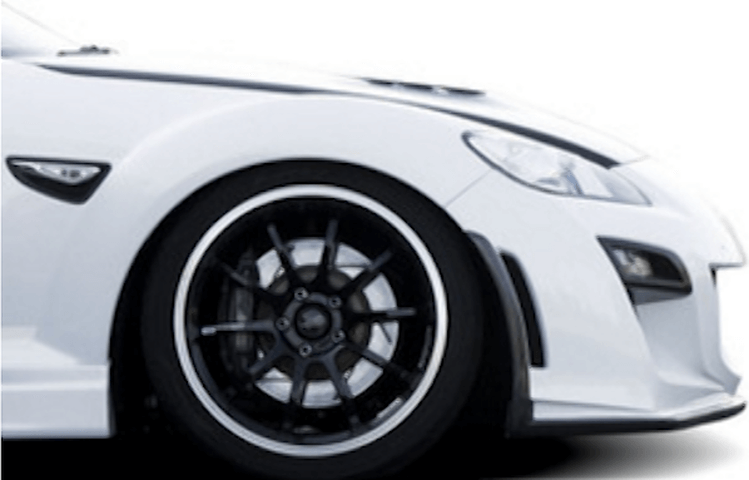 RX-8 外装 エアロパーツ フロントバンパー KNIGHT SPORTS FRONT BUMPER SPOILER TYPE-3 for RX-8('08/03〜)