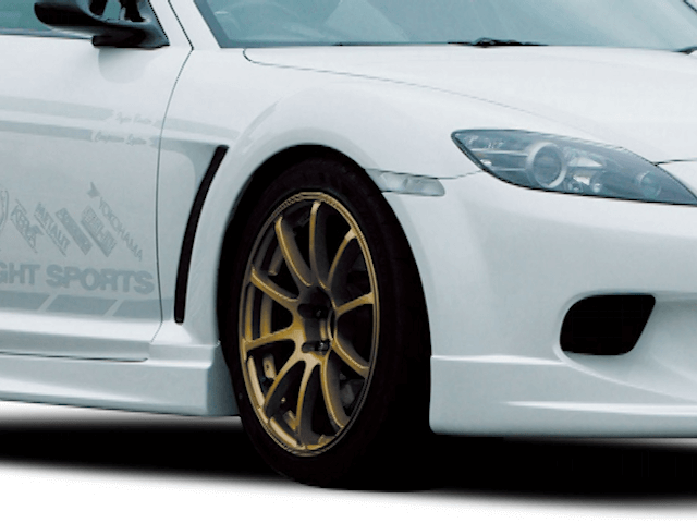 RX-8 外装 エアロパーツ フェンダー KNIGHT SPORTS FENDER DUCT for RX-8(SE3P)