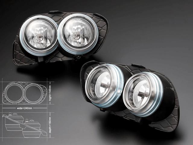 20 クラウン アスリート 外装 ライト フォグランプ J-unit アイスブルーダブルフォグキット