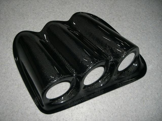 ランサーエボ 10 内装 内装その他 その他 YR-Advance 3連カーボンメーターフード