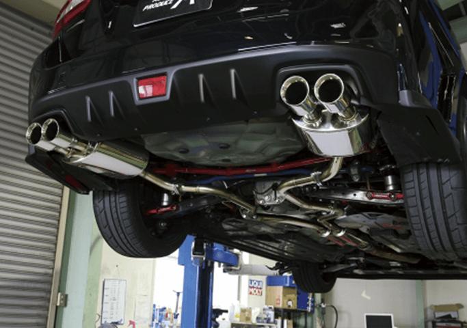 レヴォーグ 排気系 マフラー マフラー本体 AUTO PRODUCE A3 AGRESSデュアルエキゾーストシステム
