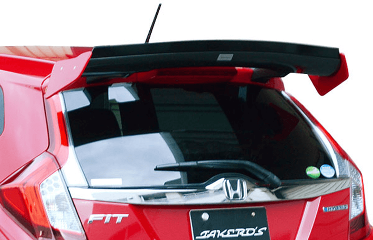 フィット ハイブリッド GP5/GP6 外装 エアロパーツ リアスポイラー/ウイング TAKERO'S リアウイングTYPEⅡカーボン