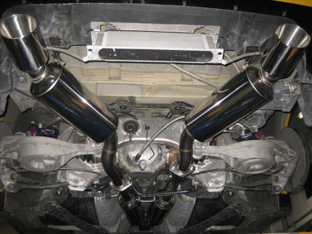 Z34 フェアレディZ 排気系 マフラー マフラー本体 Garage 4413 デュアルレーシングエキゾースト