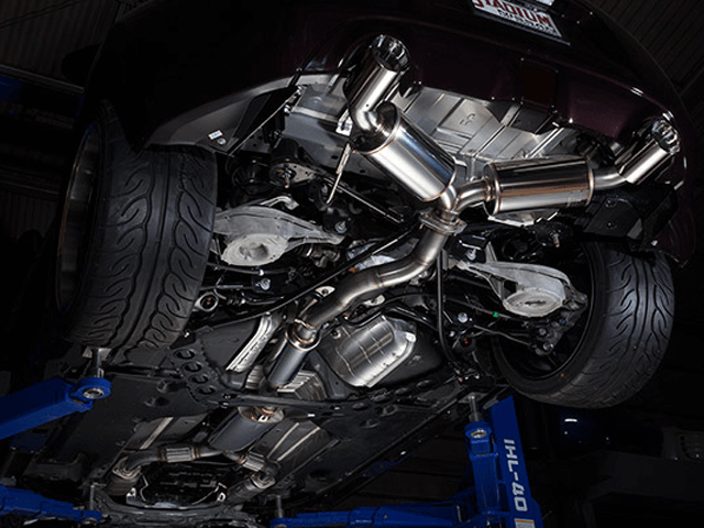 Z34 フェアレディZ 排気系 マフラー マフラー本体 garage力 ステンレスエキゾーストシステム【RIKISAKU】