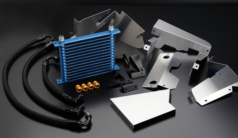 Z33 フェアレディZ 冷却系 オイルクーラー オイルクーラー本体 トラスト オイルクーラー×2