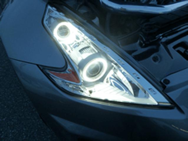 Z34 フェアレディZ 外装 ライト ヘッドライト DATSUN FREEWAY カスタムヘッドライト