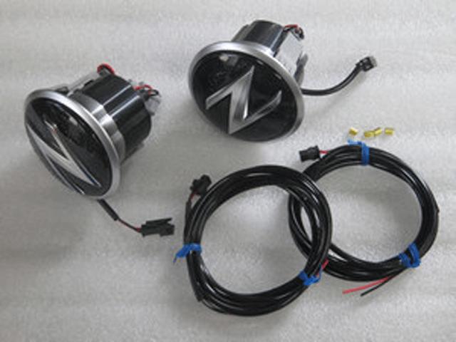 Z34 フェアレディZ 外装 ライト その他 DATSUN FREEWAY LEDサイドエンブレム