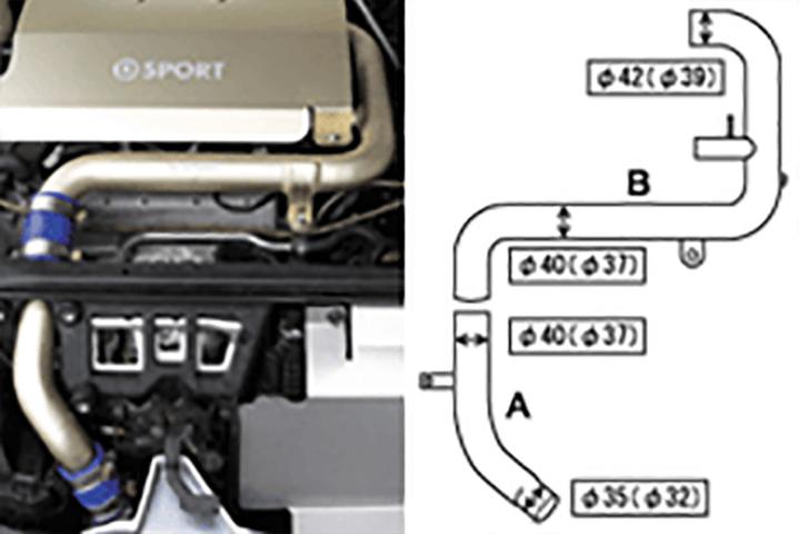 コペン L880 吸気系 その他 その他 D-SPORT アルミインテークパイプキット