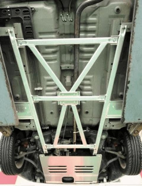 コペン L880 ボディー/シャシー その他各種補強 フロアアンダーバー D-SPORT フロア・フレームバー